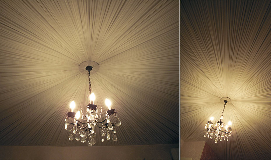 Plafond réalisé en plissé-soleil