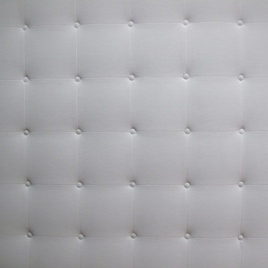 Recouverture tête de lit en velours blanc